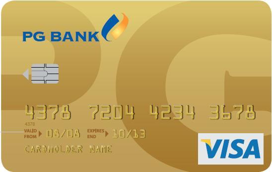 Thẻ tín dụng quốc tế PGBank Visa